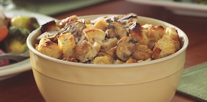 Roasted Parsnip Bread Pudding