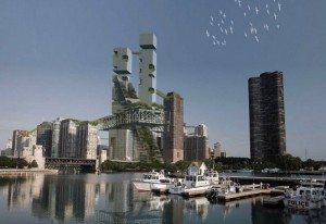 Vertical Farm Concept is a Green Gateway for Chicago